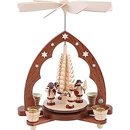 1 - Tier Pyramid  -  Gift Bringing Angels  -  28cm / 11 inch