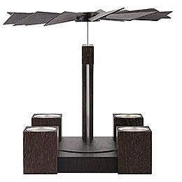 1 - Tier Pyramid  -  Modern Moore Oak Blank   -  24cm / 10 inch