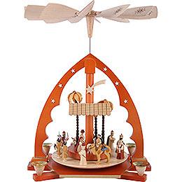 1 - stöckige Pyramide Christi Geburt natur  -  40cm