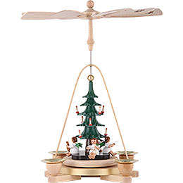 1 -  tier Pyramid Angel with Christmas tree  -  11 inch  -  28cm