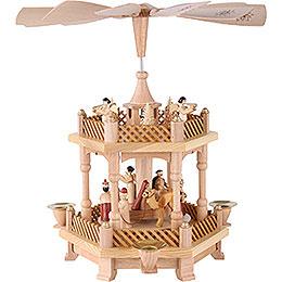 1 -  tier Pyramid Nativity Scene  -  13 inch  -  33cm