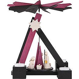 1 - tier pyramid modern Nativity  -  30cm / 12 inch
