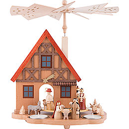 1 - tier table pyramid house Nativity  -  29cm / 11.4inch