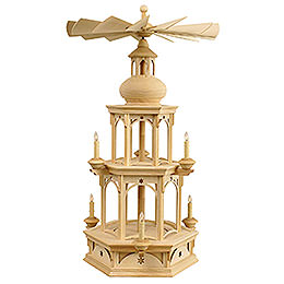 2 - Tier Pyramid  -  Blank without Figurines, Star Motif  -  73cm / 29 inch