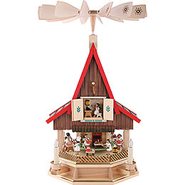 2 -  tier Adventhouse Angel's bakery electrically driven by Richard Glässer -  53cm / 21inch