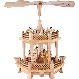 2 -  tier Pyramid Nativity Scene  -  13 inch  -  33cm