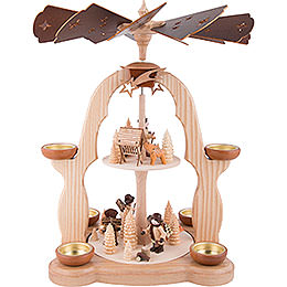 2 - tier pyramid Forest people  -  40cm / 15.7inch