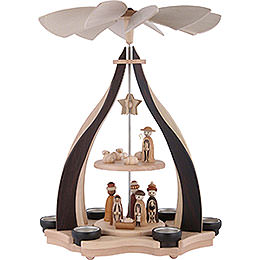 2 - tier pyramid nativity scene  -  47,5cm / 18.7inch