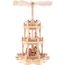 3 - tier pyramid Nativity, natural 49cm / 19.5inch