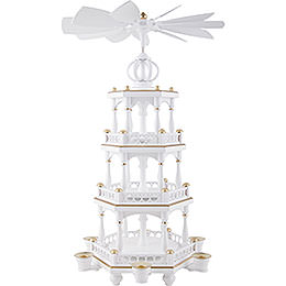 3 - tier pyramid without figures, white - gold  -  51cm / 20inch