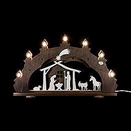 "3D Candle Arch  -  ""Nativity, Rustic""  -  52x33x6cm / 20.5x13x2.3 inch"