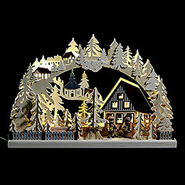 3D - Candle Arch Striezel children and fir trees  -  42x30cm / 17x12inch