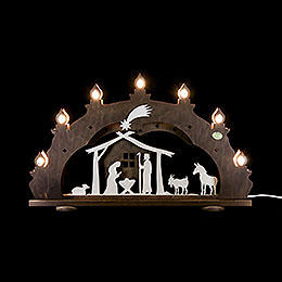 "3D Candle arch ""Nativity, rustic""  -  52x33x6cm / 20.5x13x2.3inch"