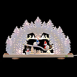 3D - Candle arch 'Snowman with white frost'  -  52x31,5x6cm / 20x12x2.3inch