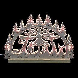 3D - Doppelschwibbogen  -  Waldmotiv  -  42 x 30 x 4,5cm