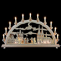 3D Double Arch  -  Cologne Cathedral with carolers  -  68x35cm / 27.8x13.8inch