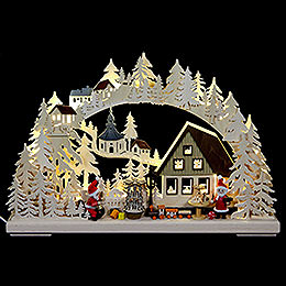 3D - Double - Arch  -  Santa Claus workshop  -  43x30x7cm / 17x11x3 inch