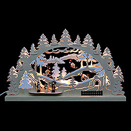 3D - Double - Arch  -  Winter Countryside  -  62x37x5,5cm / 24x14x2 inches