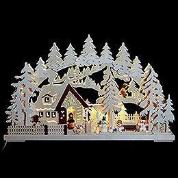 3D - Double - Arch  -  Winter Landscape  -  62x39x8cm / 24x15x3 inch