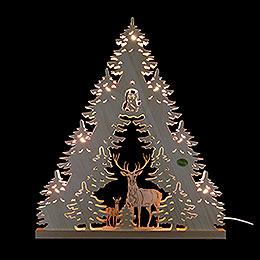 """3D - Lichterspitze """"Rehe""""  -  38x44x4,5cm"""