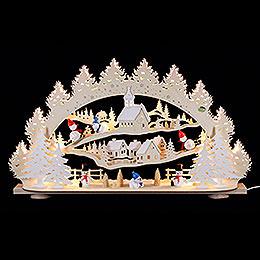 3D - Schwibbogen Schneemann  -  66x40x11,5cm