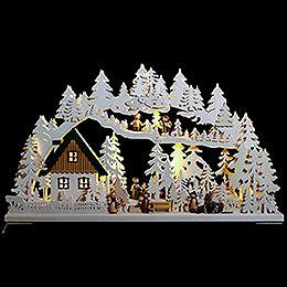 3D Schwibbogen  -  Waldgänger  -  72x43x8cm
