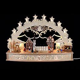 3D - Schwibbogen Weihnachtsmarkt  -  68x46x17cm