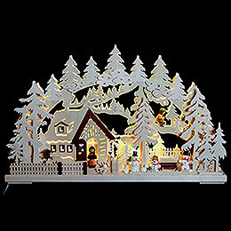 3D Schwibbogen  -  Winterlandschaft  -  62x39x8cm