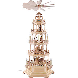 4 - Tier Pyramid  -  Forest Motif  -  Electrical 120 Volt (US - Standard) -  78cm / 31 inch