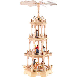 4 - tier pyramid Nativity figurines  -  colored  -  66cm / 26 inch