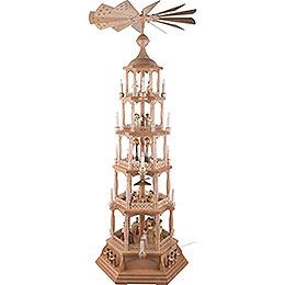 5 - stöckige Pyramide Heilige Weihnacht  -  natur  -  140cm
