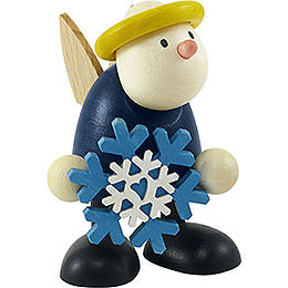 Angel Hans with snow flake  -  7cm / 2.8inch