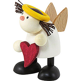 Angel Lotte standing with heart  -  7cm / 2.8inch