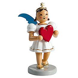Angel short skirt colored, heart  -  6,6cm / 2.5inch