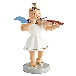 Angel short skirt colored, violin  -  6,6cm / 2.5inch