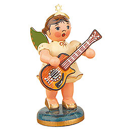 Angel with Acoustic guitar 6,5cm / 2,5inch