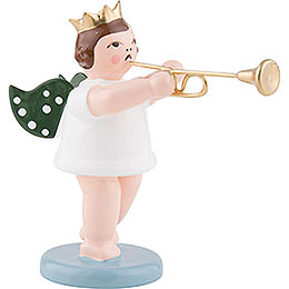 Angel with Crown and Aida Trumpet  -  6,5cm / 2.5 inch