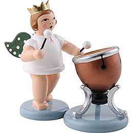 Angel with Crown and Timbal  -  6,5cm / 2.5 inch