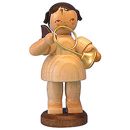 Angel with French Horn  -  Natural Colors  -  Standing  -  9,5cm / 3,7 inch