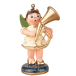 Angel with Tenor horn 6,5cm / 2,5inch