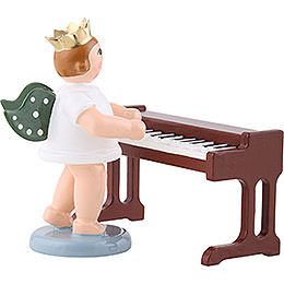 Angel with crown at the little piano  -  6,5cm / 2.5inch