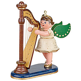 Angel with harp  -  10cm / 4inch