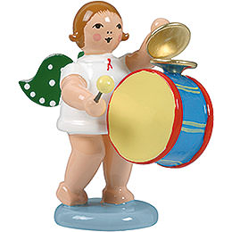 Angel with large drum and cymbal  -  6,5cm / 2.5inch