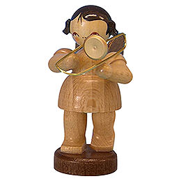 Angel with trombone  -  natural colors  -  standing  -  6cm / 2,3 inch