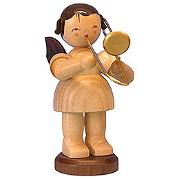 Angel with trombone  -  natural colors  -  standing  -  9,5cm / 3,7 inch