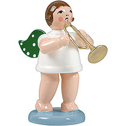 Angel without Crown with Jazz Trumpet  -  6,5cm / 2.5 inch