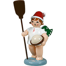 Baker Angel with Hat and Kiln Dumper  -  6,5cm / 2.5 inch