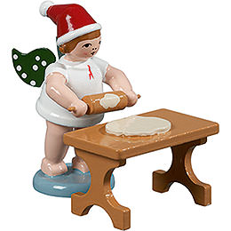 Baker angel with hat and rolling pin at the table  -  6,5cm / 2.5inch