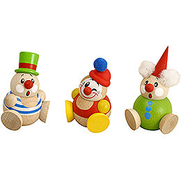 Ball Figures Clowny  -  3 - pcs  -  6cm / 2 inch
