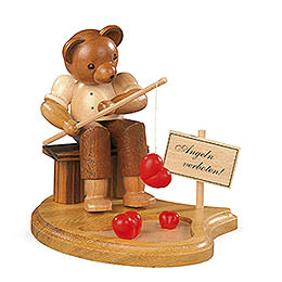 Bear fisherman  -  10cm / 4 inch